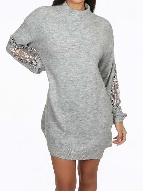 Nanni Embroidery Netted Jumper Dress