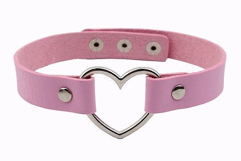 Hele Velvet Necklace (Pink)