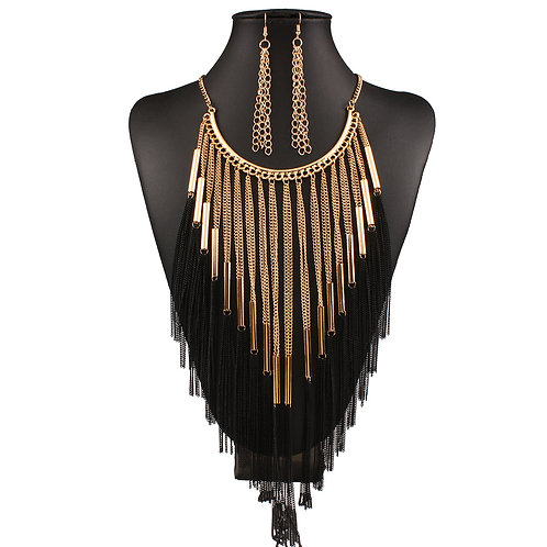 Berlin Tassel Earring And Necklace Set