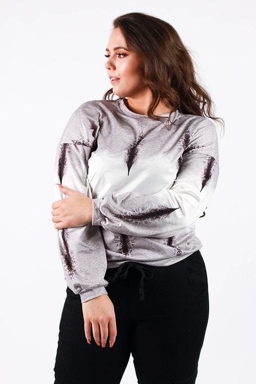 Terry Tie Dye Pullover Sweatshirt