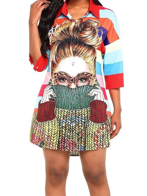 Dreya Multicoloured Shirt Dress