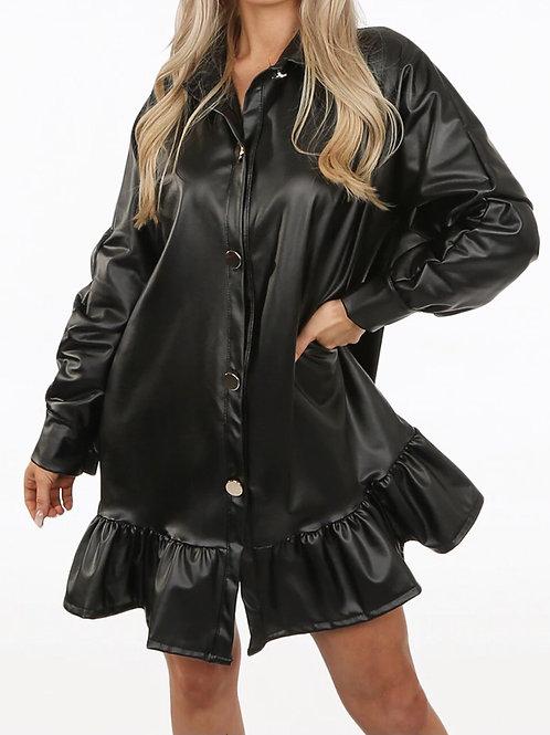 Lando Wet Look Leather Dress