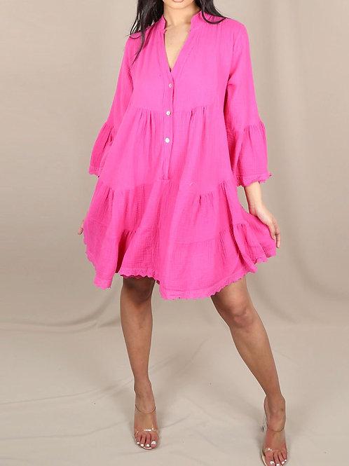Frankie Long Sleeves Shift Dress