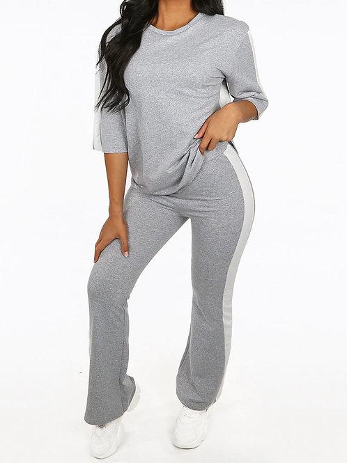 Lulu Side Contrast Panelled Loungewear Set