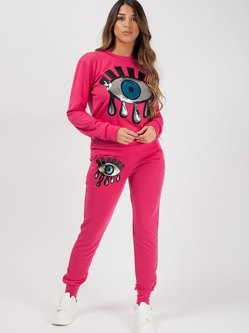 Remo Pink Sequin Eye Co-ord