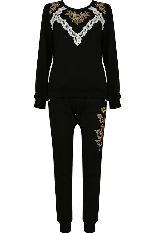Bella Lace Embroidered Lounge Wear