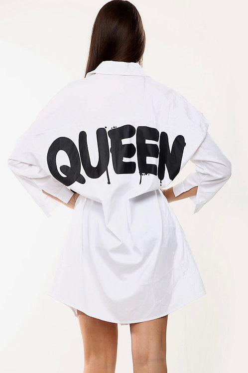 Hail Queen Shirt Dress
