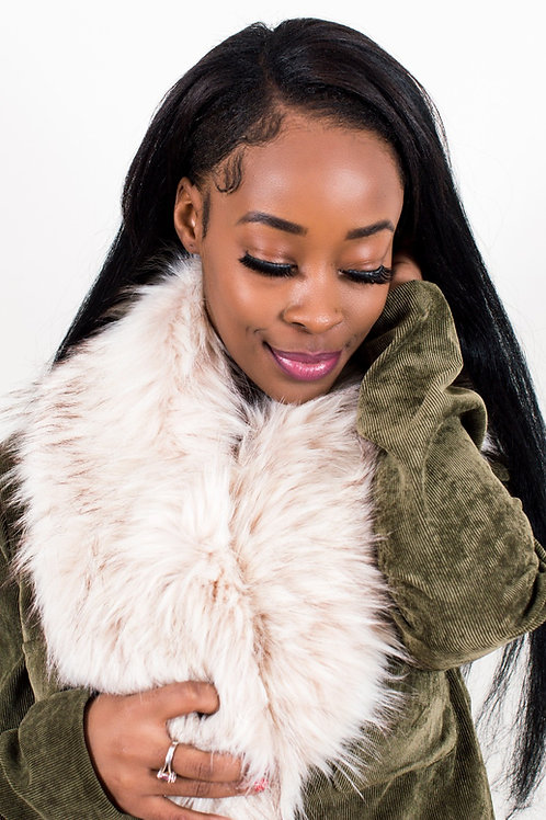 Neome Cream Faux Fur Collar