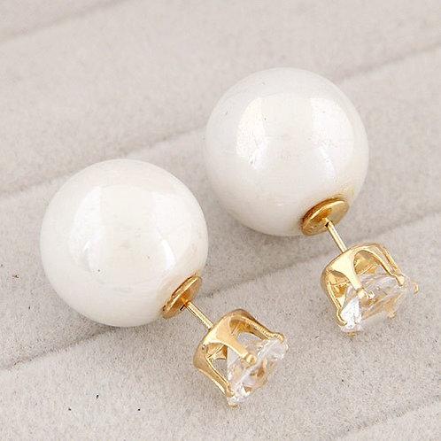 Leash Alloy Diamond Pearls Earring
