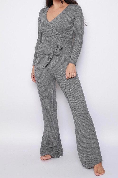 Colia Rib Knit Loungewear Set