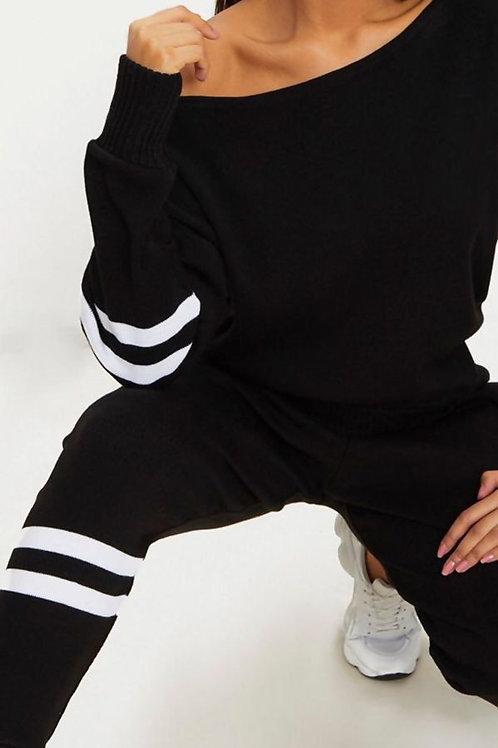 Sana Stripe Knitted Lounge Wear