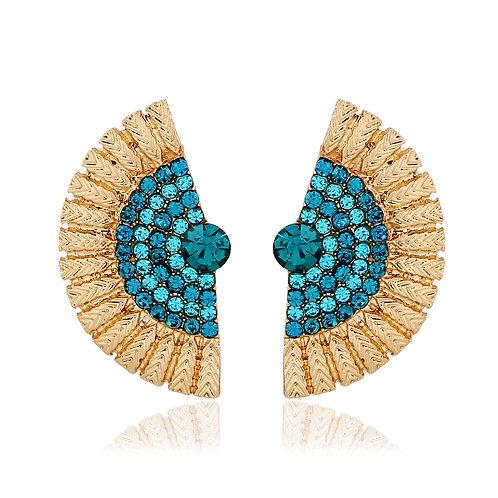 Korea Blue Peacock Stud Earring