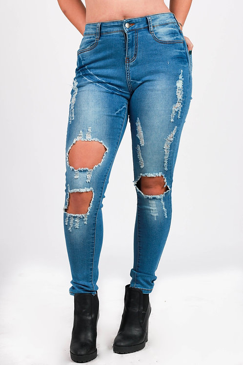 Tally Ripped Cut Out Denim