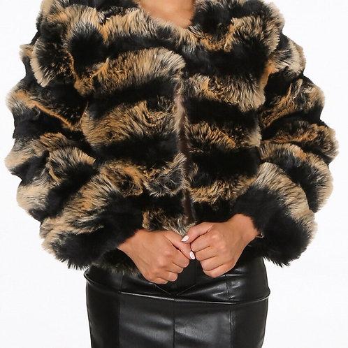 Kell Faux Fur Cropped Jacket