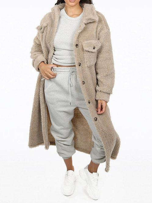 Polar Soft Teddy Faux Fur Coat