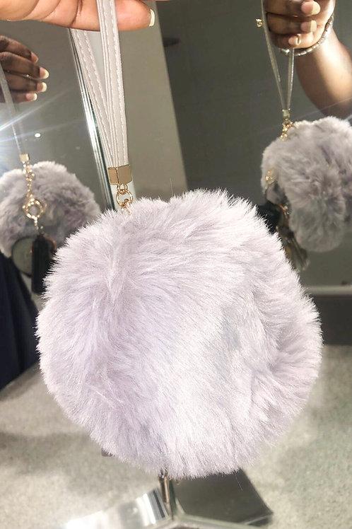 Telly Fur Zip Wrist Bag
