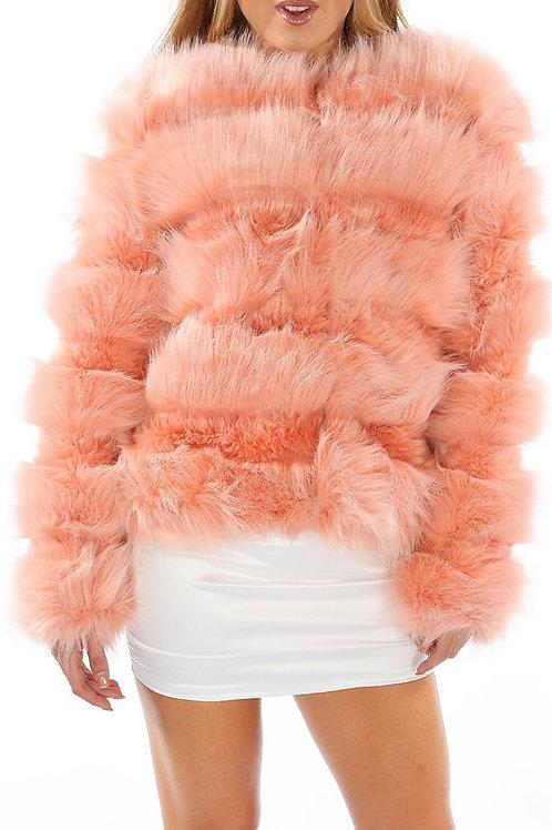 Vanese Layared Faux Fur Coat