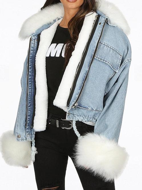 Zulu Fur Oversize Denim Jacket