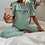 Thumbnail: Jada Mint Puff Sleeve Loungesuit