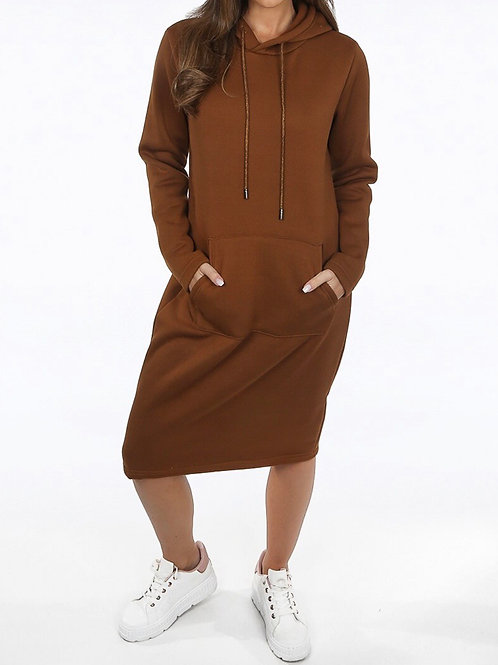 Gigi Hooded Long Jumper Dress