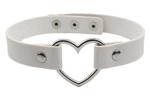 Hele Velvet Necklace (White)