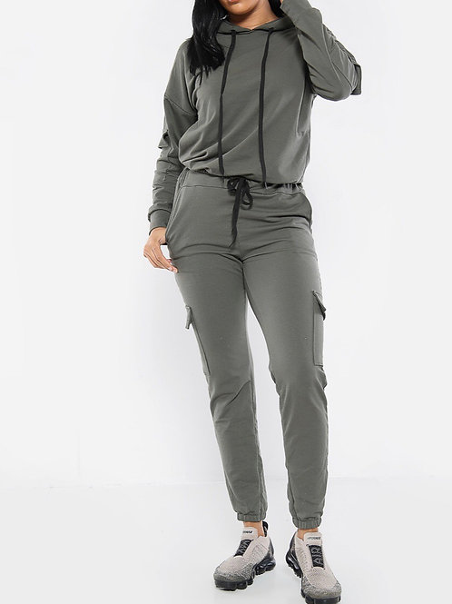 Rona Side Pocket Combat Tracksuit Set