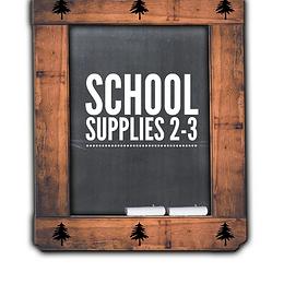 School Supplies  2-3, 2021-22