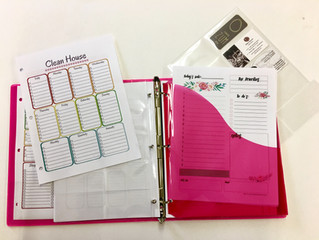 A Family Binder & A Weekly Meeting For Organized Chaos