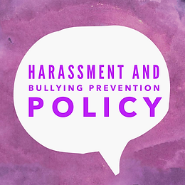 Harassment and Bullying Prevention Policy