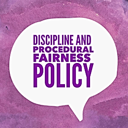 Discipline and Procedural Fairness Policy