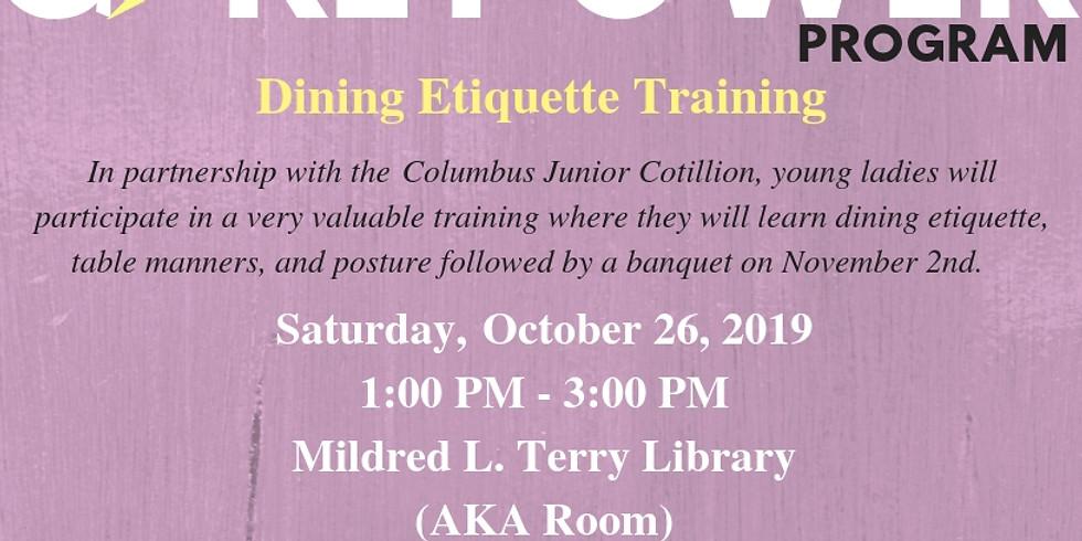 Girl Power Program: Dining Etiquette Training