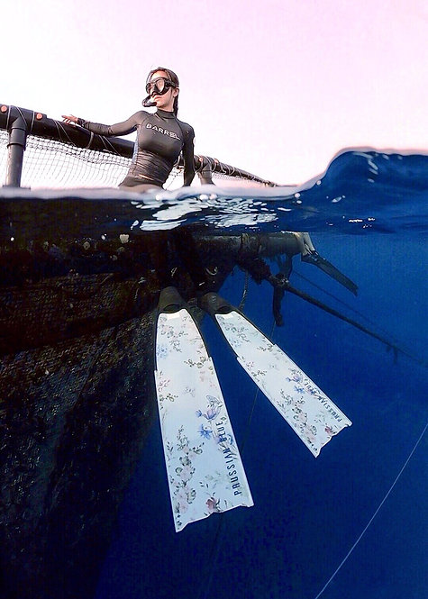 PRUSSIAN BLUE freediving long fins