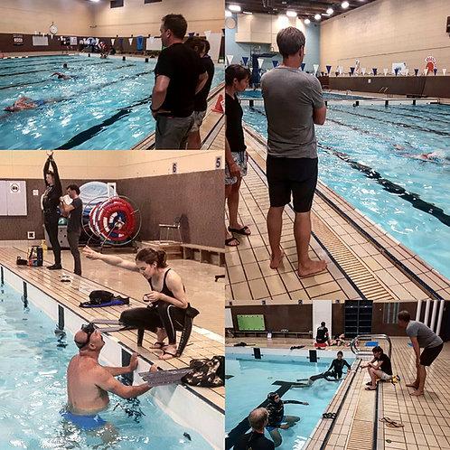 Cours piscine et profondeur Freediver pool and depth course