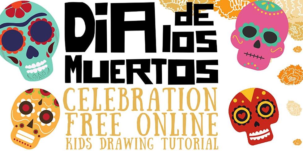 Dia de Los Muertos Celebration Free Online Kid's Drawing Tutorial