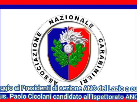 Paolo Cicolani un candidato di Tivoli al ruolo di Ispettore regionale dell'ANC Lazio