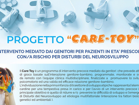 """Asl Roma 5: Avviato il progetto """"Care Toy"""" per i disturbi del neurosviluppo"""