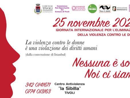 Tivoli: Dal centro antiviolenza ascolto e sostegno a 300 donne