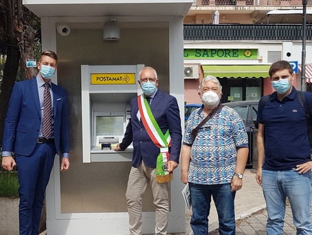 Guidonia Montecelio: Inaugurato a Colleverde l'ATM Postamat di ultima generazione