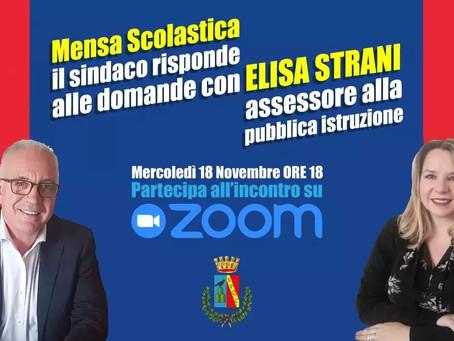 Guidonia Montecelio: Incontro su Zoom con i cittadini per parlare di mensa scolastica