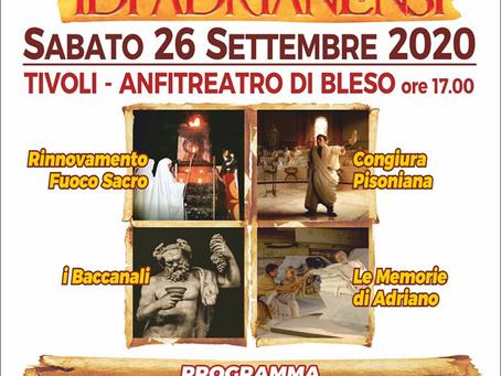 Tivoli: Le Idi Adrianensi sabato 26 settembre all'Anfiteatro di Bleso