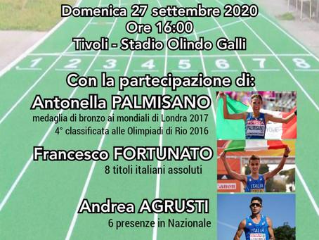 """Tivoli: """"Trofeo Lazio di marcia Fulvio Villa"""" domenica 27 settembre all'Olindo Galli"""