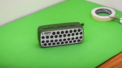 Speaker Product Photography on a green Background
