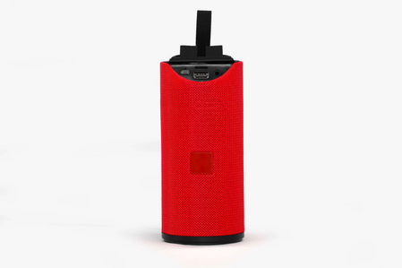 Product Shoot for Red Bluetooth Speaker