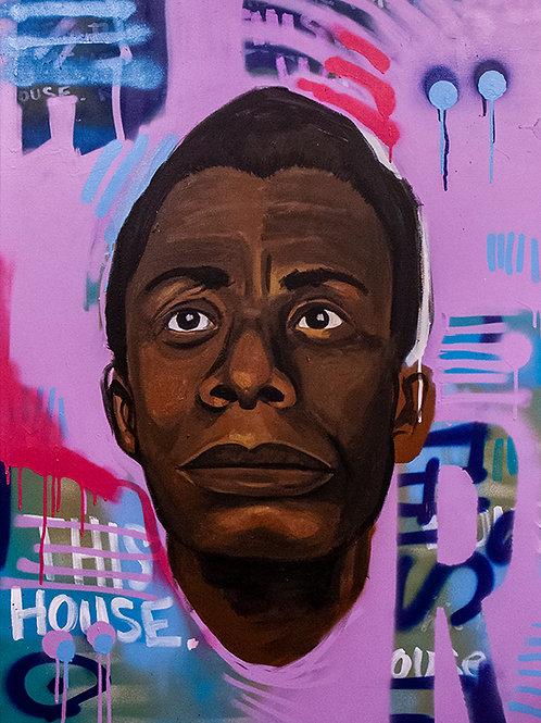 Portrait of James Baldwin - Painting