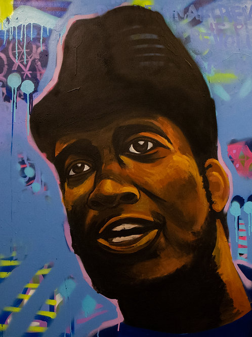 Portrait of Fred Hampton, Sr. - Painting