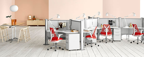 office desks, tables and chairs