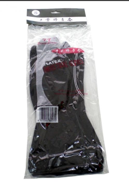 雙七 1 打裝黑色勞工膠手套 (每打計) (5052501)