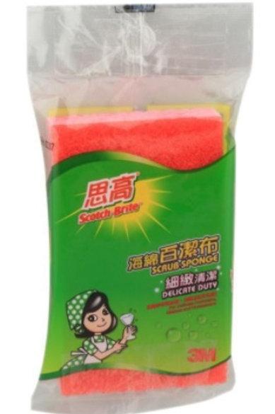 思高 #435HK 百潔粉紅色海綿 (每包 12 片計) (5060205)