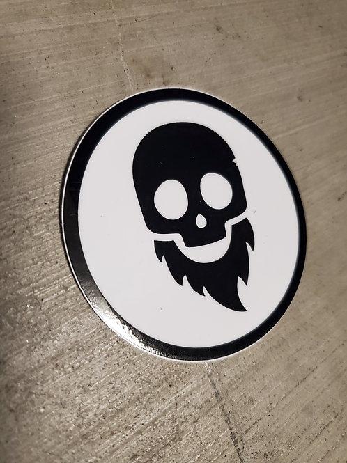 Beard Skull Decal