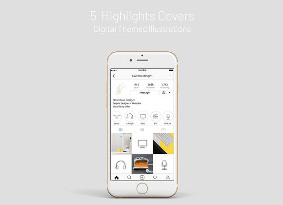 Highlight Covers - Digital Themed
